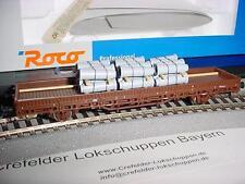 Roco 47785 VAGONE senza sponde ÖBB con betonröhren