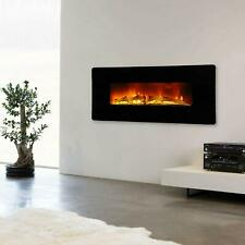 """1400W 36"""" Led Electric Fireplace Recessed Wall Mounted Flame Heater"""