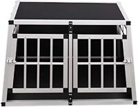New Aluminium Pet Car Crate Travel Cage Dog Puppy Cat Transport Kennel