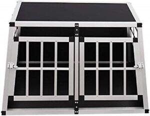 New Aluminium Pet Car Crate Travel Cage Dog Puppy Cat Transport Kennel