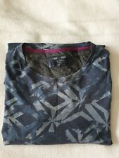 Ted Baker Blue Camouflage style T-shirt, Size 6. 100% cotton. Ex condition