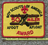 50 Miler Award Afoot Afloat Boy Scouts of America patch