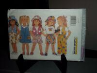 Butterick Sewing Pattern #4412 Childs Vest Top Jumper Skirt Shorts Hat 5 6 6x FF