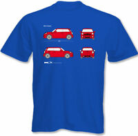 Mens Mini Cooper Blueprint T-Shirt John Cooper Works Roadster Car