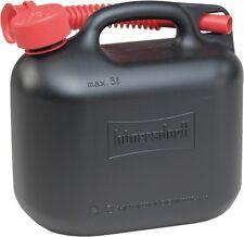 Jerrycan 5 L Bidon de combustible benzin-kanister Noir tuyau de sortie NEUF