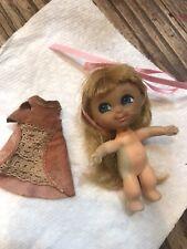 Vtg Liddle Kiddle 1965 Mattel Japan Blonde Princess Doll 4�- Beddy-Bye Biddle?