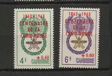 CAMBODGE Croix-Rouge 1963 Y&T N°139 et 140 2 timbres neufs sans charnière /T3677