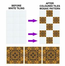 Mosaic Pattern Stickers Transfers for 150mm / 6 Inch Kitchen Bathroom Tiles C23