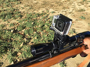 GoPro Rifle Mount, Works with Shotguns and Pictatinny rails too!