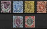 KEVII- 6 Items- Good/ Fine Used Condition. Unchecked For SG No.,Etc.  Ref:07158