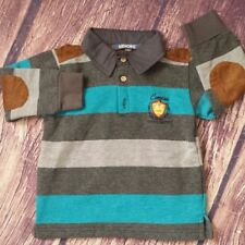 Kidichic size 2 striped warm rugby polo shirt