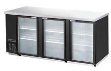 Maxximum Mcbb90-3Bg, 31.5-Cu.Ft. 3 Section Glass Back Bar Cabinet, Refrigerated