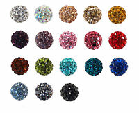 10x Strass perlen Beads Strassperlen Klangkugel Ball für K?fig 10mm