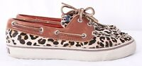 Sperry Top-Sider 9445537 Bahama Leopard Cowhide Hair Moc Boat Loafers Women's 6M