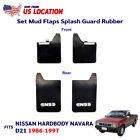 Splash Mudguard Rubber Mud Flaps Front Rear For Nissan Hardbody D21 Pickup 86-97