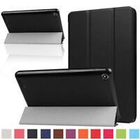 For Amazon Kindle Fire HD 8 7th Gen 2017 Case Magnetic Flip Leather Smart Cover