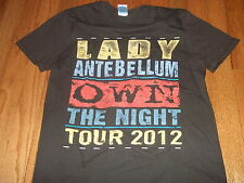 "LADY ANTEBELLUM ""Own The Night tour 2012"" official tour shirt Adult Small"