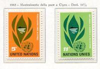 19062) UNITED NATIONS (New York) 1965 MNH** Nuovi** Peace Cyprus