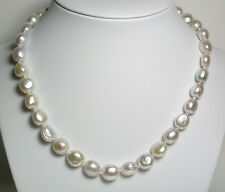 Multicolour AA++ 9-11mm South Sea saltwater pearl necklace & 9 carat gold clasp