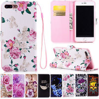 Flip Stand PU Leather Case with Wallet Card Slot Cover For Apple iPhone X 7 6S 5