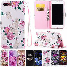 Flip Stand PU Leather Case Folding Wallet Cover For Smartphone Samsung iPhone