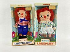 "Vintage Knickerbocker Raggedy Ann Raggedy Andy 7"" 1970s Original New in Box"