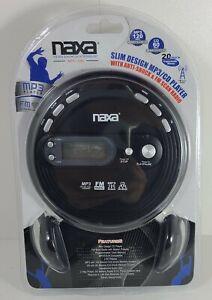 Naxa Portable Slim Personal MP3 CD Player with FM Radio Anti-Shock LCD Display