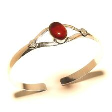 New Silver Plated Garnet Cuff Bracelet Bangel Gemstone Jewelry