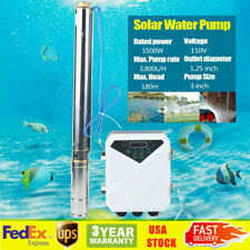 3 Dc Solar Water Pump Deep Well 1500w Submersible With Mppt Controller 180 M Usa