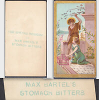 Max Bartels Stomach Bitters Victorian Trade Card Spring Medicine Cure Bird Cage
