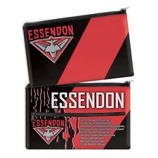 Essendon Bombers AFL Pencil Case School Work stationary QUALITY LARGE Gift