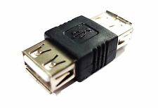 PC USB FEMALE A to FEMALE A CONNECTOR ADAPTER COUPLER
