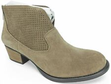 Jessica Simpson Women's Dacia Perforated Ankle Boots Taupe Suede Size 6.5 M