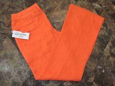 Women's 100% Linen Mandarin Drawstring Pants Sz XL NWT by Naji