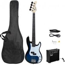 Glarry GP Electric Bass Guitar Blue w/ 20W Amplifier