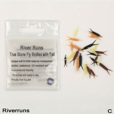 Riverruns Realistic Flies 24pc/Bag Stone Fly Nymph Body With Tail 4 Color 3 Size