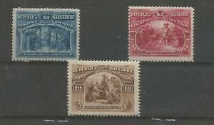 SALVADOR 1894  SMALL COLLECTION OF MINT VALUES TO $5.00 * SOME CARD ATTECHMENT