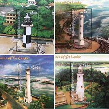 Sri Lanka 2018 stamps LightHouses Miniature Sheets 4   Leuchtturm  vuurtoren