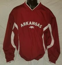 Vintage STARTER Arkansas Razorbacks NCAA Embroidered Windbreaker Jacket Men's M