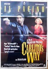 manifesto movie poster 2F CARLITO'S WAY BRIAN DE PALMA AL PACINO  CINEMA PENN