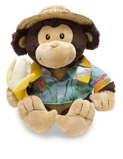 "NEW Cuddle Barn ""Banana Boat Bruno"" 10"" Animated Song Monkey Plush"