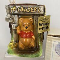 Disney Enesco 1964 Winnie The Pooh Mr Sanders Ceramic Figural Planter *Rare*