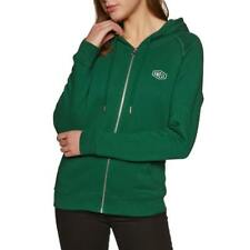 SWELL Ashley Full Zip Front Hoodie Hood Forest Green