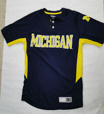 Michigan Wolverines Pro Edge 2 Button Shirt  Size Adult Small