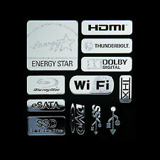 Energy Star Metal Decal Sticker HDMI Wi-fi USB3.0 SSD DVD THX (Silver Type D)