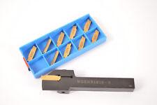 MGEHR1212-3 Cutter HOLDER CNC turning tool + 10pcs MGMN300-M NC CNC INSERT