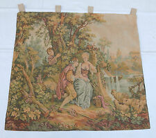 Vintage French Beautiful Scene Tapestry Wall Hanging 99x106cm T279