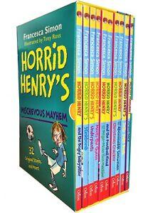 Horrid Henry's Mischievous Mayhem Collection 10 Books Box  Set Children Books