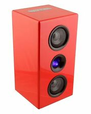 Steepletone Studio - Bluetooth Speaker System Red Studio Speakers Music Gift