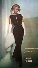 Vintage 1957 McCALL'S PAULINE TRIGERE Evening Wedding Dress Sewing Pattern B32